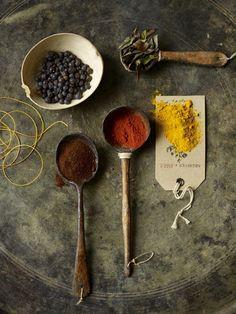 Ложки для специй. © Clare Goddard (http://claregoddard.com/), фотограф – Beth Galton (http://www.bethgalton.com/). #Spoon #Spoons