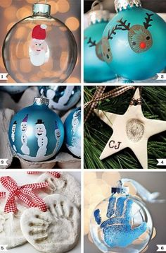 Hand and Foot print Christmas Ornaments