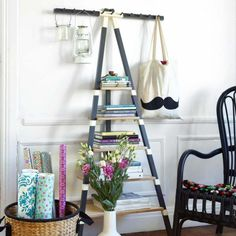 #Upcycled Ladder Shelves And Creative Display Ideas