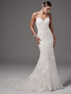 Kleinfeld Bridal carries the largest selection of couture wedding dresses, designer exclusives, plus size wedding gowns, headpieces and accessories. Plus Size Wedding Gowns, Wedding Dresses With Straps, Fit And Flare Wedding Dress, Perfect Wedding Dress, Designer Wedding Dresses, Bridal Dresses, Form Fitting Wedding Dresses, Simple Lace Wedding Dress, Wedding Dress Sheath