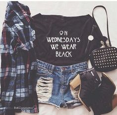 I NEED THIS SHIRT FOR ALL BLACK WEDNESDAYS