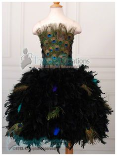 For the Love of Peacocks Feather Dress