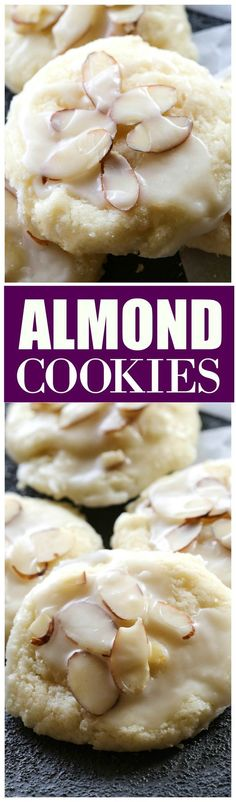 Cookies Almond Cookies - a family favorite we all love! the-girl-who-ate-Almond Cookies - a family favorite we all love! the-girl-who-ate- Cookies Receta, Yummy Cookies, Holiday Cookies, Bake Sale Cookies, Holiday Baking, Christmas Baking, Italian Christmas Cookies, Xmas Food, Christmas Treats