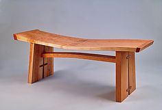 """""""Wave Bench"""" by Richard Laufer - Finalist in Furniture at the 2012 NICHE awards, announced at the Buyers Market of American Crafts."""