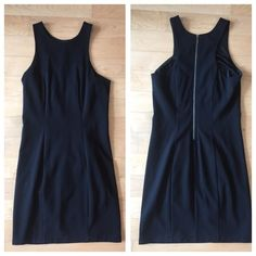 ARMANI EXCHANGE cocktail dress A simple staple for your closet. Tight, knee-length, little black dress by Armani Exchange with silver zipper detail on back. Only worn once. PERFECT condition. Armani Exchange Dresses