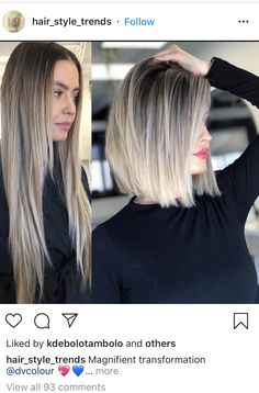 Medium Hair Styles, Short Hair Styles, Before And After Haircut, Brunette To Blonde Before And After, Before After Hair, Shoulder Length Hair, Great Hair, Hair Highlights, Hair Today