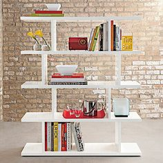 45 DIY bookshelves to inspire your next home project. Make your own homemade bookshelf from a single shelf or bookcase. This DIY is added storage or stylish display for books and home decor accessories. For more weekend DIY ideas go to Domino. Room Divider Shelves, Sliding Room Dividers, Modern Bookshelf, Bookshelf Plans, Bookshelf Diy, Diy Regal, Ideas Hogar, Creation Deco, Open Shelving