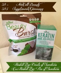 NeoCell Beauty Supplements Giveaway ~ Ends 3/15 Enter at http;//deliciouslysavvy.com