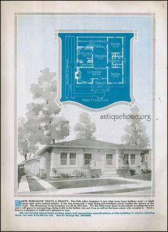 The Daily Bungalow Building A New Home, Building Plans, Home Design Plans, Plan Design, Cottages And Bungalows, Vintage House Plans, Architectural Prints, Modern Bungalow, Craftsman Style Homes