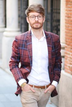 love the khaki and plaid