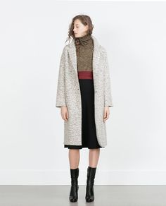 Image 1 of COAT WITH LAPELS from Zara