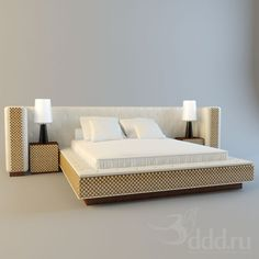 Bedroom IPE CAVALLI COLLECTIONS 3dsMax 2011 + fbx (Vray) : Bed : 3dSky - 3d models