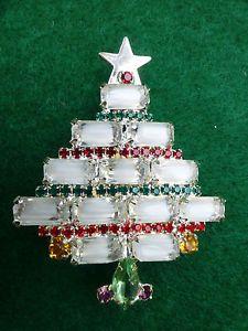 Vintage Kenneth J Lane Christmas Tree Brooch Pin   eBay