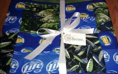 Beer and Bass Fishing Throw Quilt - QUILTING - Knitting, sewing, crochet, tutorials, children crafts, papercraft, jewlery, needlework, swaps, cooking and so much more on Craftster.org