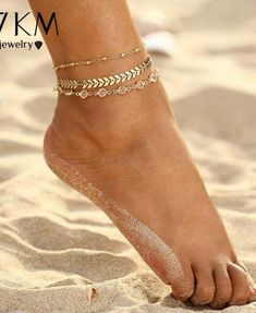 Crystal Sequins Anklet Beach Foot jewelry Vintage Anklets Crystal Sequins Anklet Set For Women Beach Foot jewelry Vintage Statement Anklets Boho Style Party Summer Jewelry Anklet Bracelet, Anklet Jewelry, Bracelets, Jewlery, Boho Jewelry, Cute Jewelry, Women Jewelry, Fashion Jewelry, Beach Feet