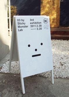 03 by Sticky Monster Lab signage poster Wayfinding Signage, Signage Design, Typography Design, Layout Design, Web Design, Environmental Graphics, Environmental Design, Packaging Design, Branding Design