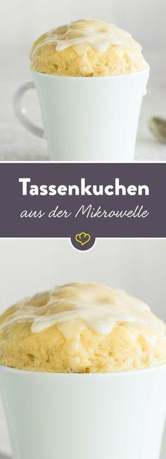 Schneller Kuchengenuss für jeden Tag! Alle Zutaten miteinander verrühren, in der Mikrowelle backen und das Grundrezept nach Herzenslust verfeinern.