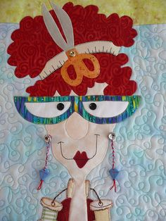 Diva 2 by PiecedByPeace Sewing Appliques, Applique Patterns, Applique Quilts, Quilt Patterns, Fabric Art, Fabric Crafts, Sewing Crafts, Small Quilts, Mini Quilts