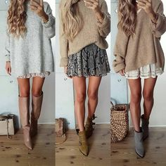 tojajoanna oder - Style - Source by skiyandeksnet casual outfits Winter Outfits For Teen Girls, Cute Fall Outfits, Casual Winter Outfits, Winter Fashion Outfits, Look Fashion, Spring Outfits, Autumn Fashion, Womens Fashion, Fall Skirt Outfits