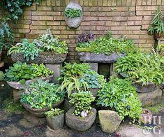 Container Gardening Ideas Why Hypertufa Troughs Are a Garden Must-Have. These containers lend texture and interest to a garden. - Containers made of a portland cement mixture lend texture and interest to a garden. Organic Horticulture, Organic Gardening, Gardening Tips, Hydroponic Gardening, Flower Gardening, Home Vegetable Garden, Garden Pots, Garden Globes, Garden Cart