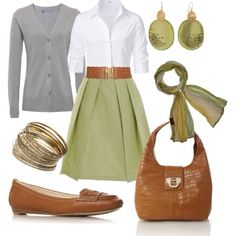 The grey cardi seems unecessary and out of place, but I love the rest!