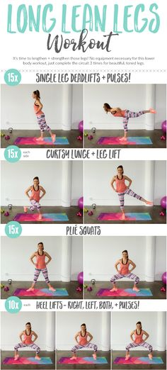 You don't need any equipment to get beautiful long, lean legs! This workout will tone from every angle!