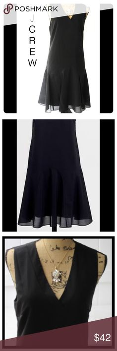 Perfect BLACK DRESS👠 Poly. Fit-and-flare silhouette. Falls above knee. Side zip. Lined. Machine wash Jcrew dress J. Crew Dresses