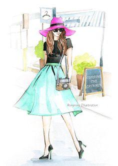 Custom illustration , Custom portrait, Fashion Illustration, Gift for her…