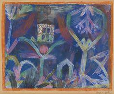 Paul Klee | FENSTER IM GARTEN / Window In The Garden, 1918, gouache and watercolor on paper mounted on cardboard