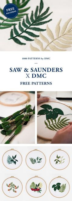 FREE EMBROIDERY PATTERN from DMC. (Cool Crafts Free Pattern)