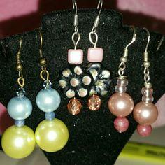Just in! 3 pairs of earrings Just in!  Bundle Earrings, great mixture of pearls and glass.  Swsrovski glass pearls.  Czech glass beads. Jewelry Earrings