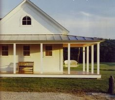 Farmhouse... I absolutely love this!! Seriously like the simple wrap around porch.