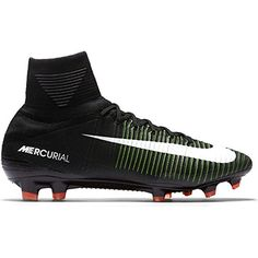 the latest 27484 0b566 Nike Mens Mercurial Superfly FG Soccer Cleat (Sz. 9.5) Black, Electric  Green