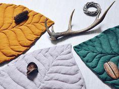 Простые идеи для дома: текстильные листья как пледы и ковры | Ярмарка Мастеров - ручная работа, handmade