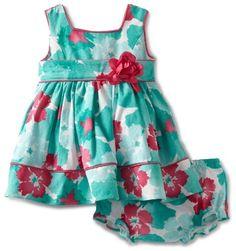 Sweet Heart Rose Baby-girls Infant Floral Woven Dress, Turquoise/Pink, 12 Months Sweet Heart Rose,http://www.amazon.com/dp/B009KRBFGW/ref=cm_sw_r_pi_dp_cC3jrb1NR800HC0K