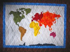 World Map Quilt Pattern.121 Best Map Quilt Images In 2019 Bricolage Crafts Creativity