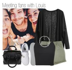 """""""614 • Meeting fans with Louis"""" by queenxxbee ❤ liked on Polyvore featuring River Island, Vans, Topshop, Carolee, Givenchy, OneDirection and louistomlinson"""