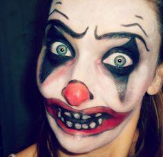 Maquillaje payaso diabolico halloween.