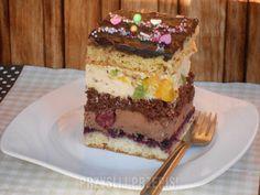 Ciasto urodzinowe Medium Recipe, Kiwi, Tiramisu, Cheesecake, Pudding, Candy, Baking, Ethnic Recipes, Image