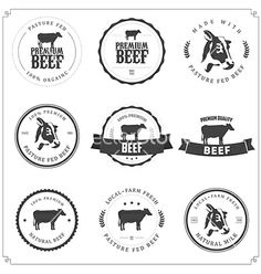 Set of premium beef labels and badges vector 1175397 - by ivanbaranov on VectorStock®