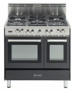 36 inch  Pro-Style Dual-Fuel Range with 5 Sealed Burners, 2 European Convection Ovens, Multi Function Programmable Ovens and Storage Drawer