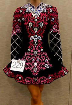 Pink and Black Irish dance solo dress