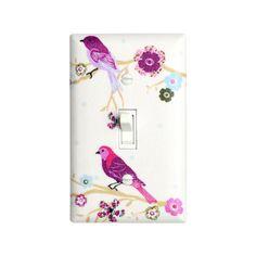 Bird Light Switch Plate Cover / Nursery Wall Decor / by SSKDesigns, $16.00