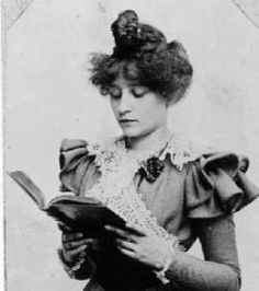 Colette reads in 1897.