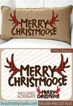 Merry Christmoose! Funny Christmas SVG File, Christmas Clipart, Christmas Graphics, Holiday SVG File For Silhouette Pattern, Christmoose SVG File For Cricut, DXF File, PNG Image File. This is a fun Christmas design that's a play on words, that'll make everyone smile! The design is great for so many different projects, like Cabin Christmas Decor, Vinyl Window Clings, Vinyl Wall Art, HTV or Fabric Die Cut Appliqué for a DIY Shirt, Sweatshirt or Hoodie and more! By: www.beaulindslystudio.com