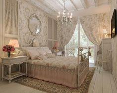 кованая кровать, интерьер в стиле прованс, французский стиль, стиль прованс, спальня в стиле прованс