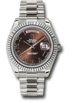 Rolex Watches: Day-Date II President White Gold - Fluted Bezel 218239 brrp