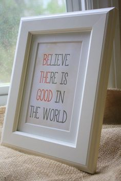 I believe :) Inspirational Signs - Home Decor - Unique Gifts | thepaperynook - Novelty on ArtFire
