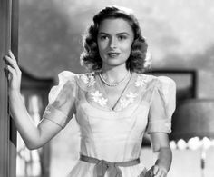 The Best Classic Beauty Looks from Holiday Movies: Donna Reed in It's a Wonderful Life  #InStyle