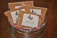 The Rub Tin  Our first gift tin includes one bag of all of our award winning BBQ rubs. These rubs are forumlated for low-and-slow temperature BBQing. Ribs, briskets, pork ribs, pork loin, etc. 12 oz. bag of TexasBBQRub - Original 12 oz. bag of TexasBBQRub - Old No. 2 - Brisket Rub 12 oz. bag of TexasBBQRub - Texas Wild 12 oz. bag of TexasBBQRub - Great Champion Includes attractive Texas gift tin  http://texasbbqrub.com
